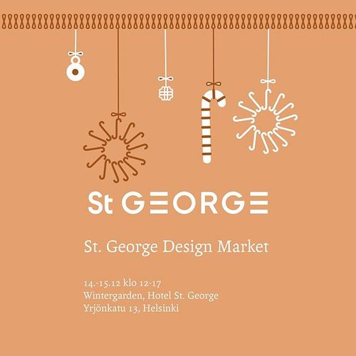 Welcome to the first St. George Design Market on December 14th and 15th 2019 at 12-5 pm at our Wintergarden. . The Design Market introduces artwork by young, promising Finnish designers. Meet the young designers and enjoy Wintergarden's Christmas spirit. You can buy glass art, ceramics, clothes, graphics, jewelry and other design pieces - as well as delicious food, glögi, St. George Bakery's Christmas treats and Hotel St. George's gift cards. Free admission. . Design by @sariannaniskalaofficial . #designhotels #stgeorgedesignmarket #momentsaremore #finnishdesign