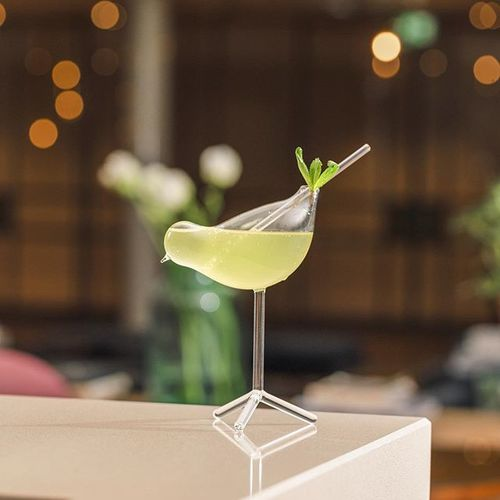 Ever since we opened our doors on May 2nd, 2018, art lovers have sought out the spectacular sculpture soaring overhead in Wintergarden. The elegance of Learning to Fly by Pekka Jylhä has inspired this cocktail. . Herbal – Elegant – Healthy. Bird of Paradise. . #momentsaremore #myhelsinki #hotelstgeorge